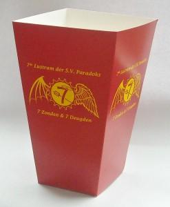 custom printed popcorn box large